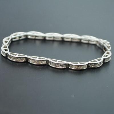 14K White Gold 3.00 CTW Diamond Bracelet