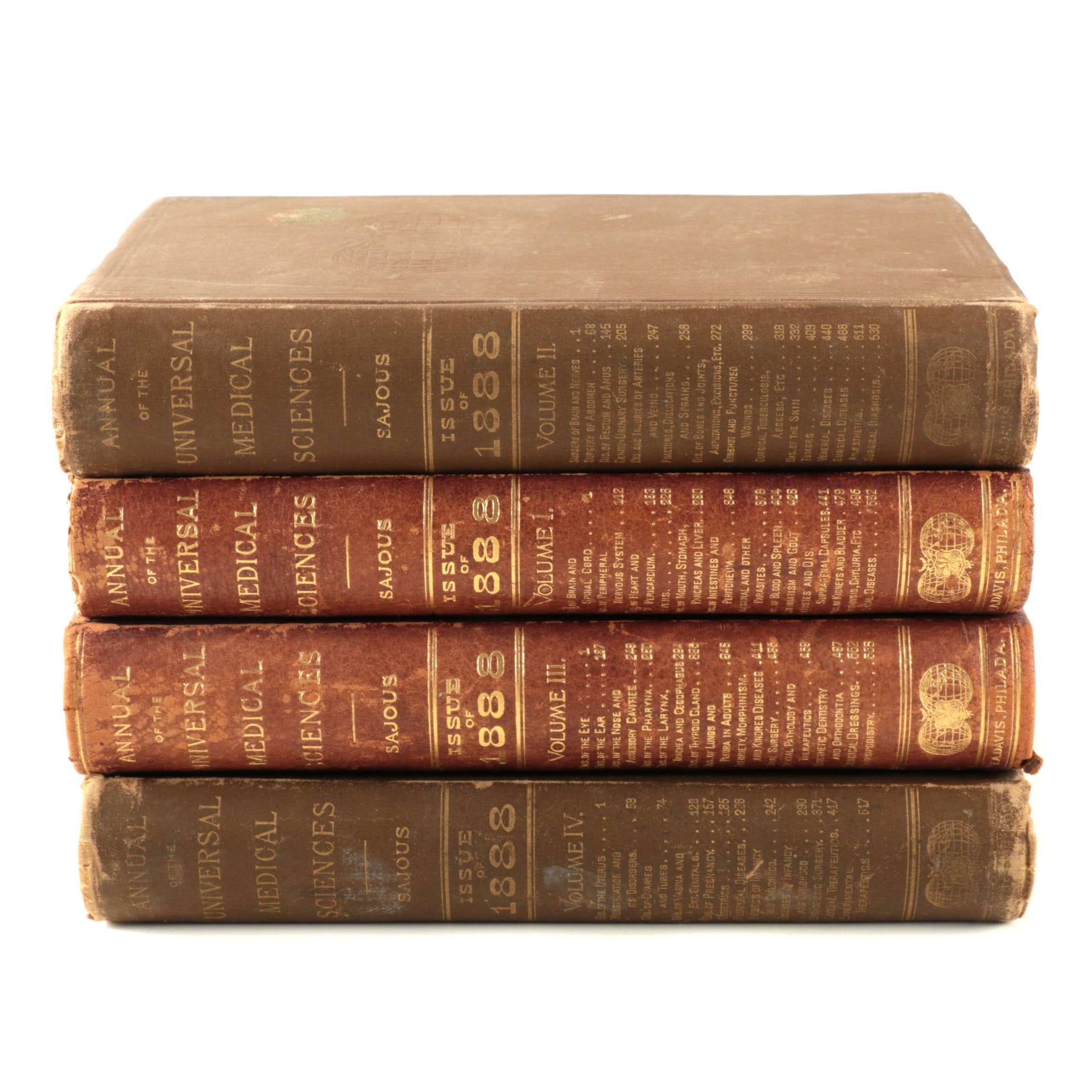 """1888 """"Annual of the Universal Medical Sciences"""" Multi-Volume Set"""