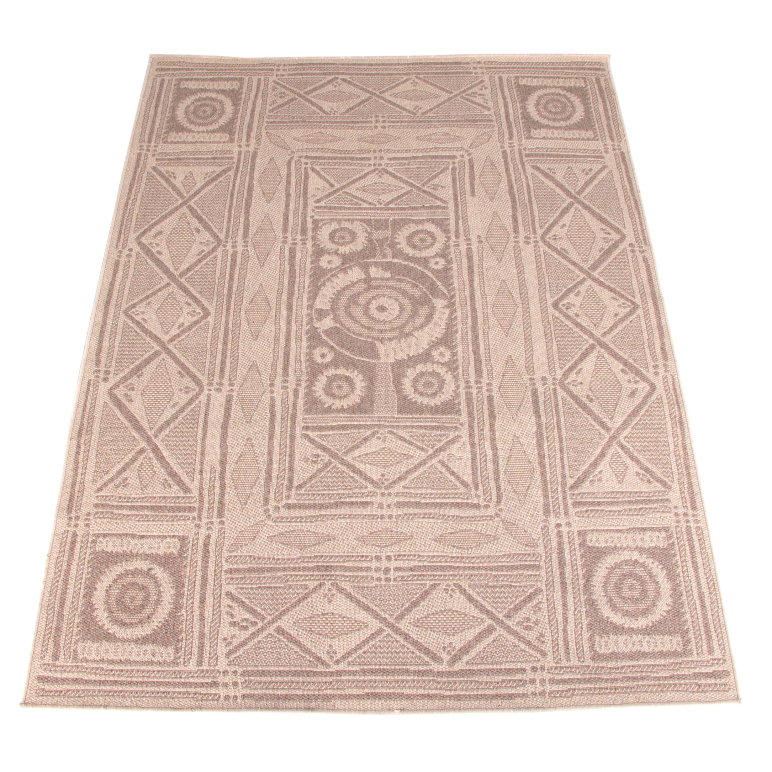 Power-Loomed Tribal-Style Area Rug