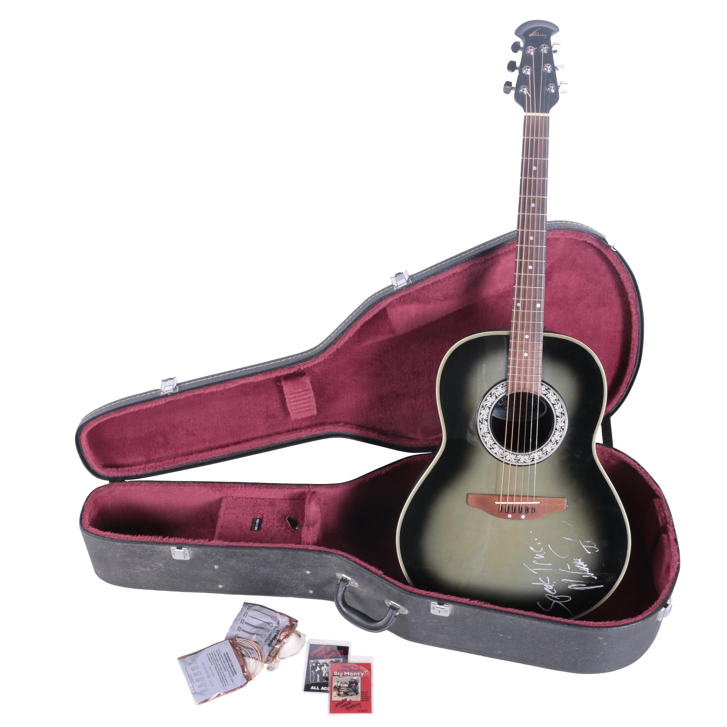 Melissa Etheridge Autographed Ovation Celebrity Acoustic Guitar