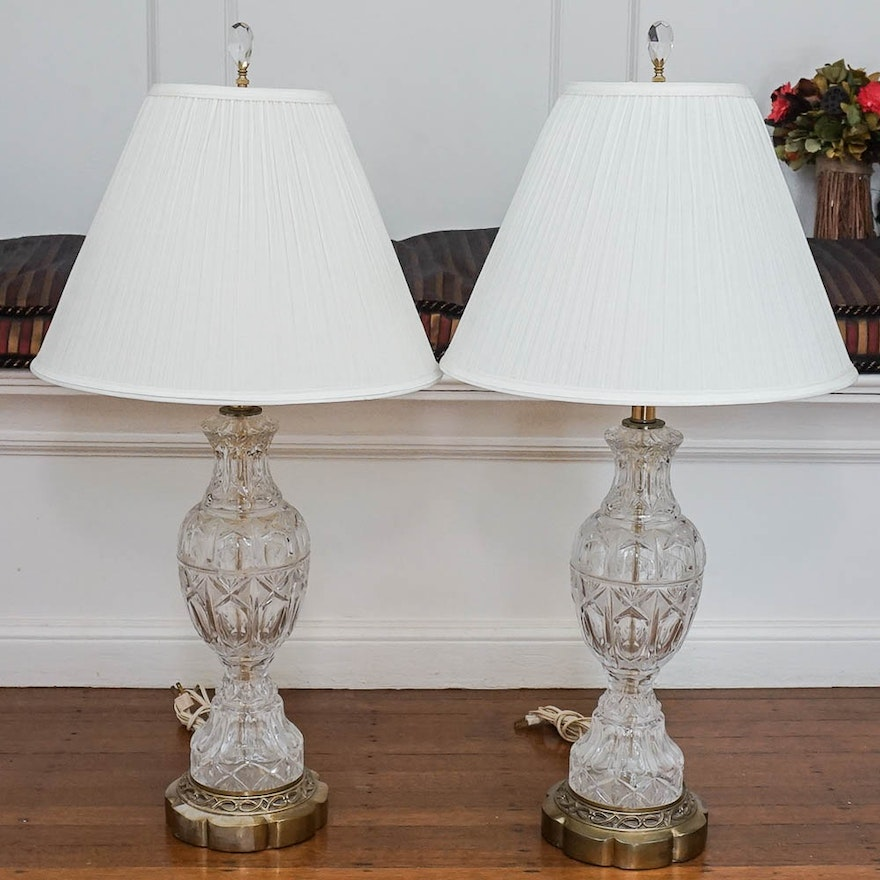 Cut glass table lamps ebth cut glass table lamps mozeypictures Gallery