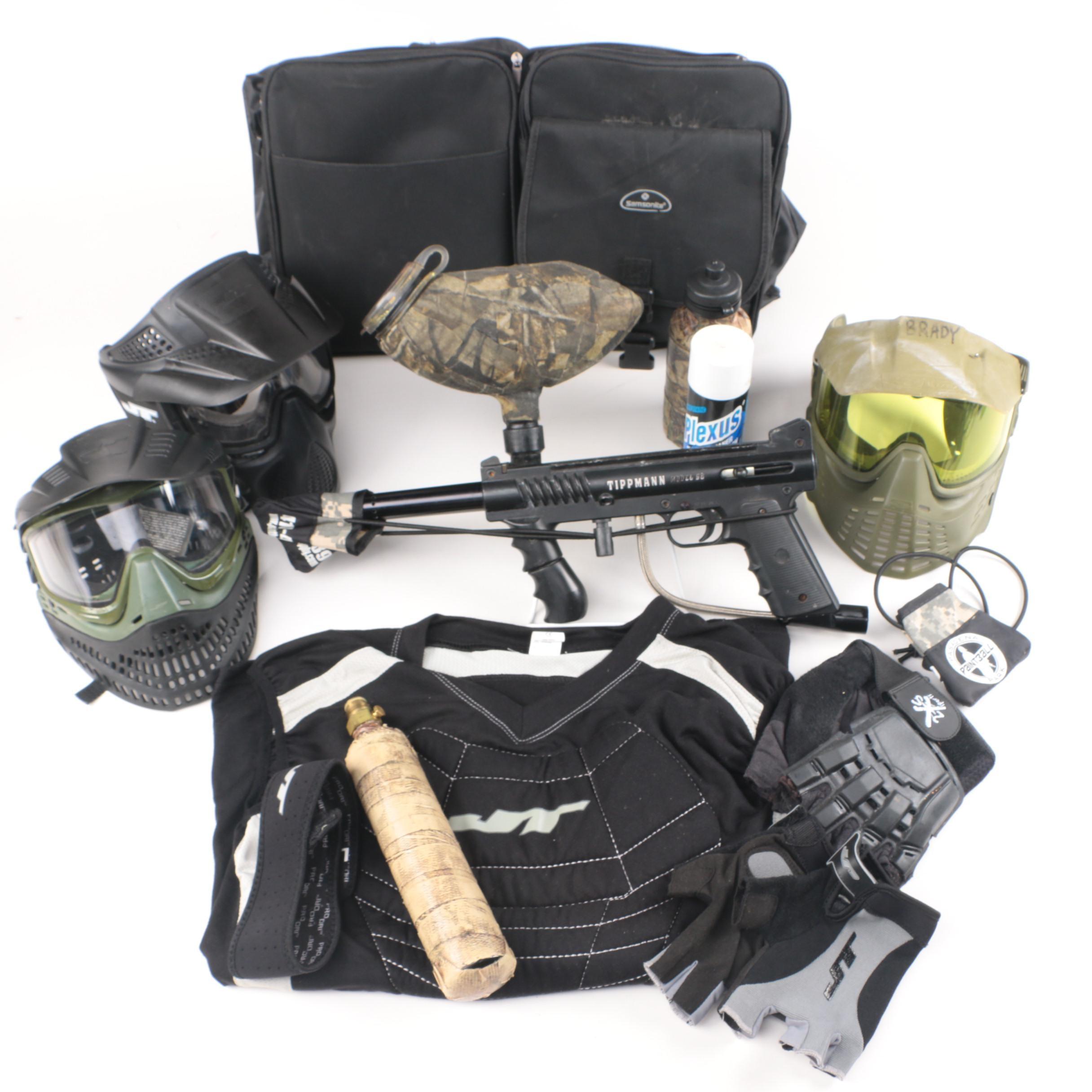 Tippman Paintball Gun and Accessories