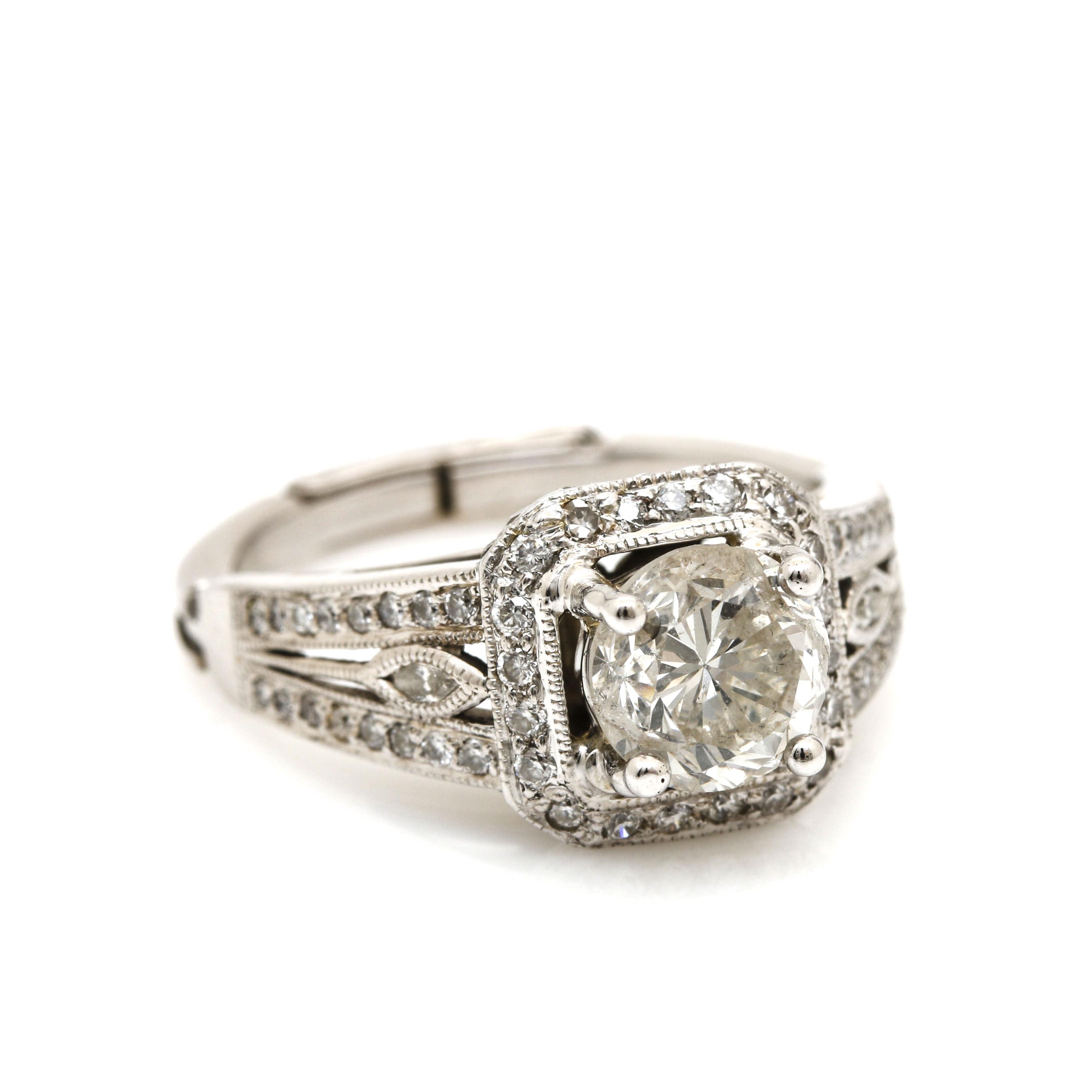 14K White Gold 1.85 CTW Diamond Arthritic Ring