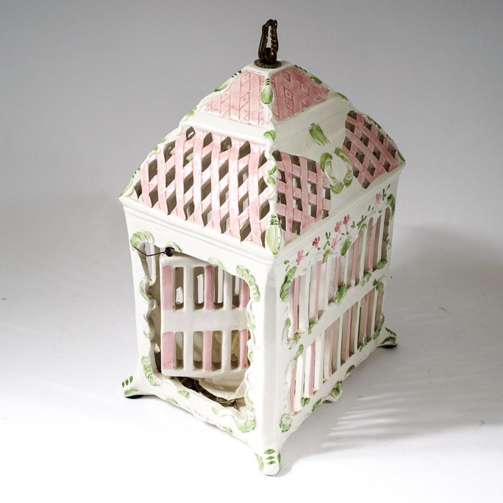 Decorative Porcelain Bird Cage