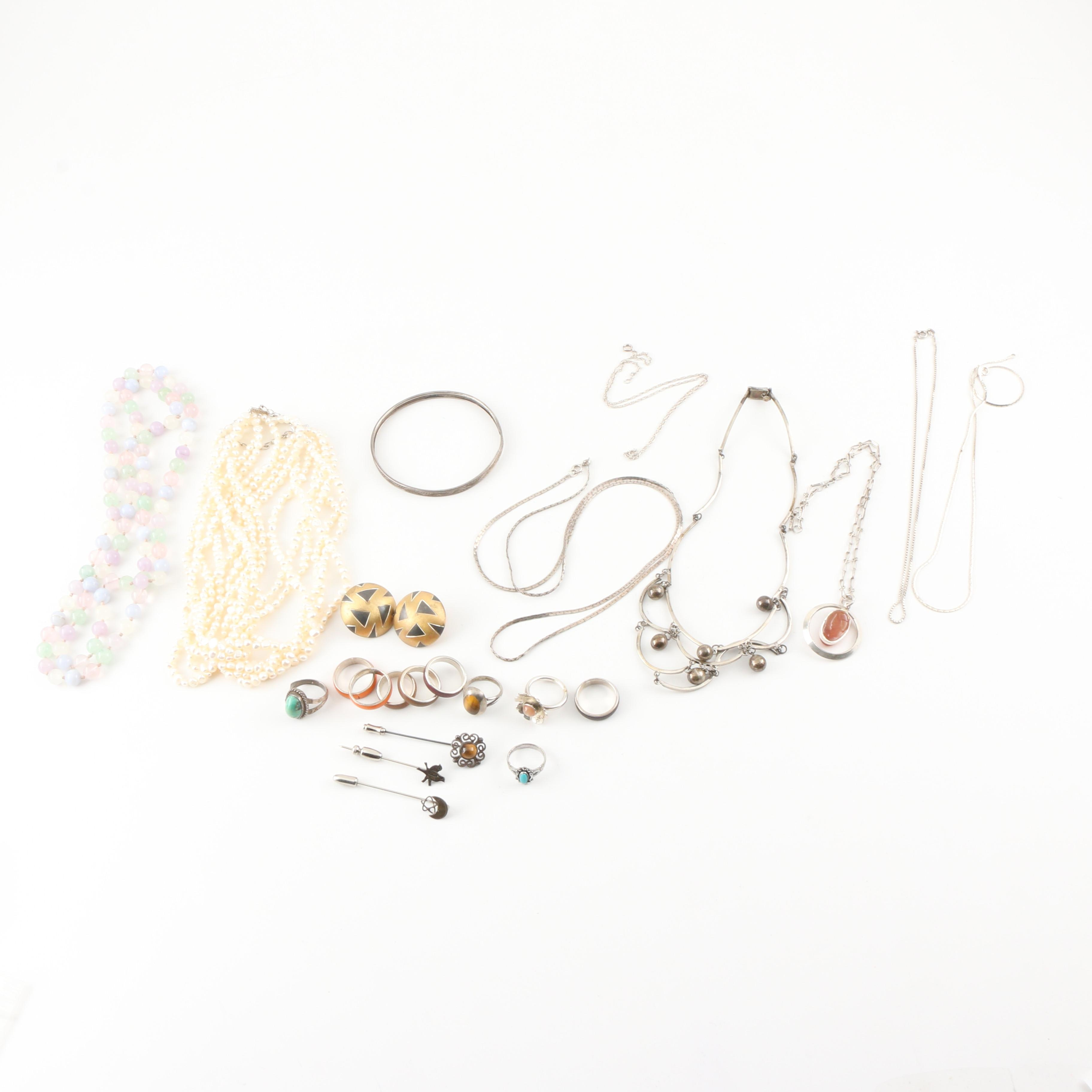 Assortment of Sterling Silver Jewelry Incuding Bell Trading Post