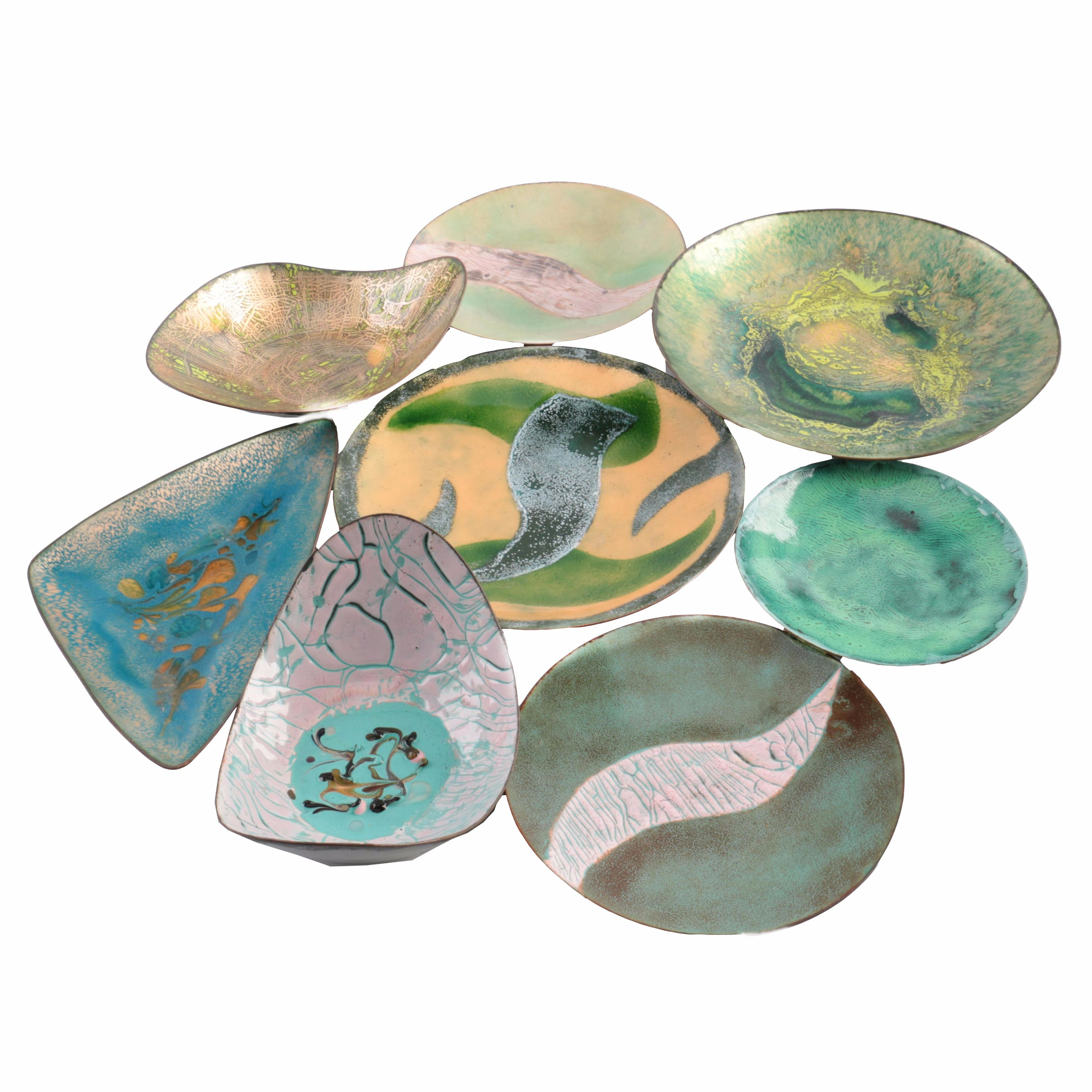 Mid-century Style Art Pottery Dish Collection