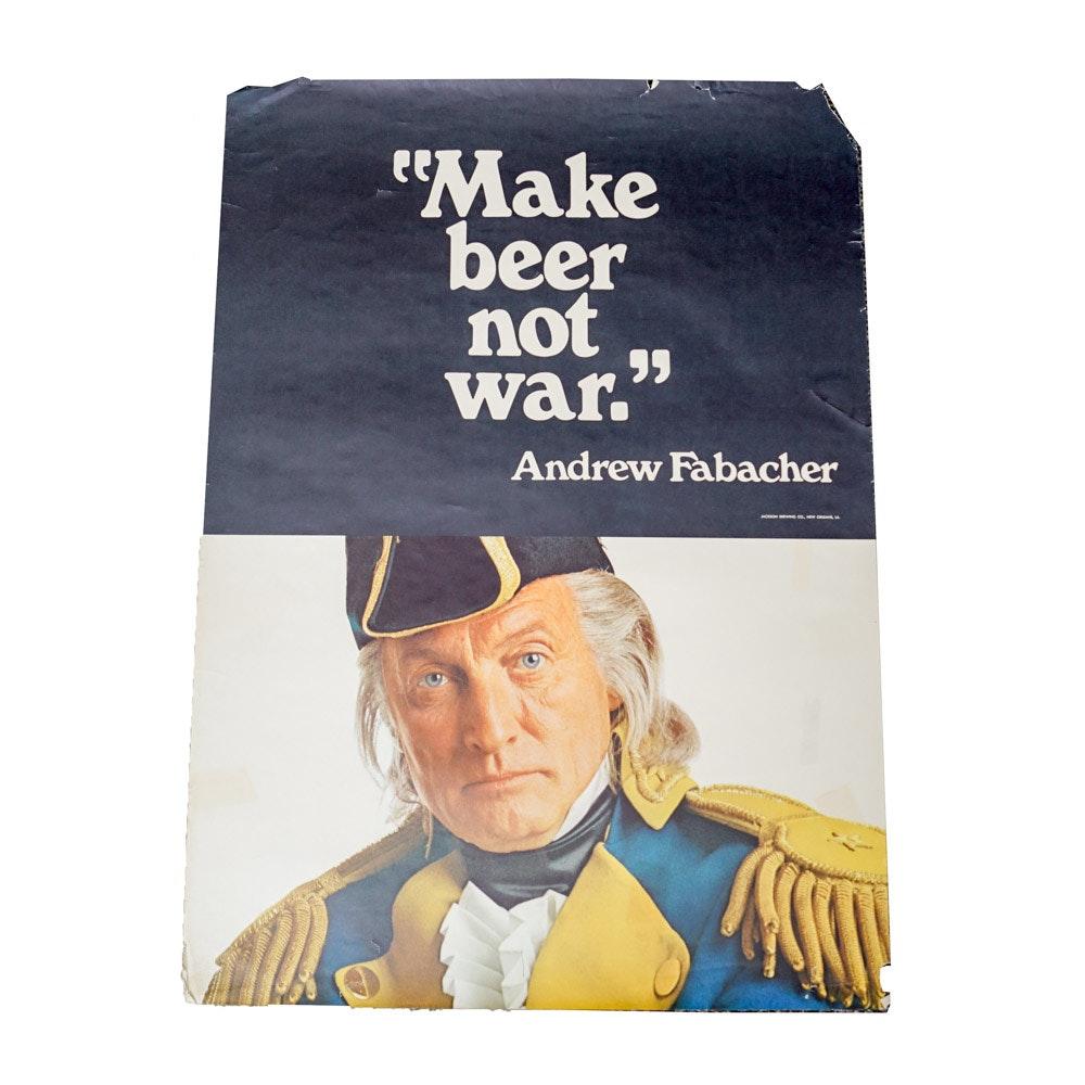 "Jackson Brewing Company Poster ""Make Beer Not War"""
