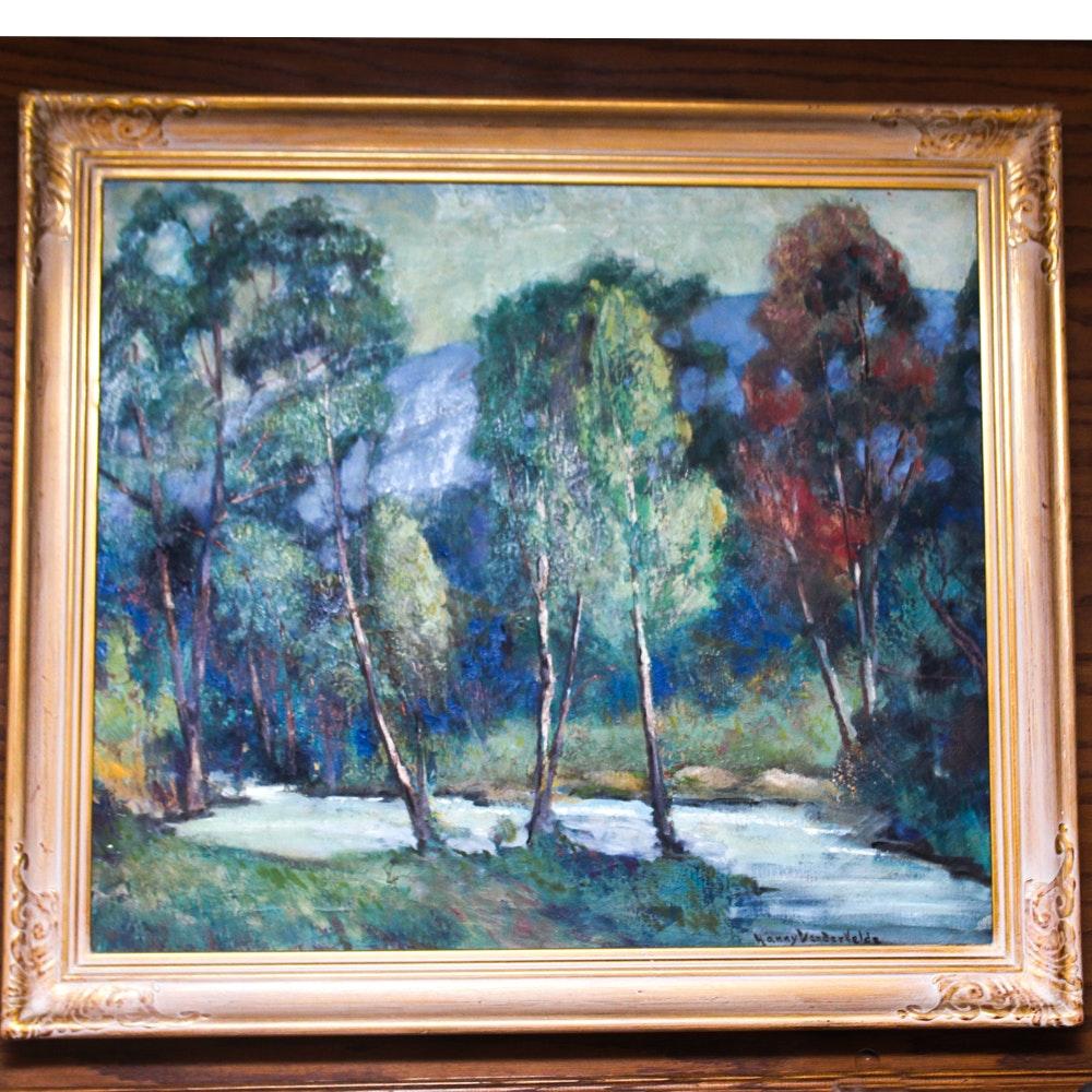 Hanny Van Der Velde Original Oil on Canvas Painting