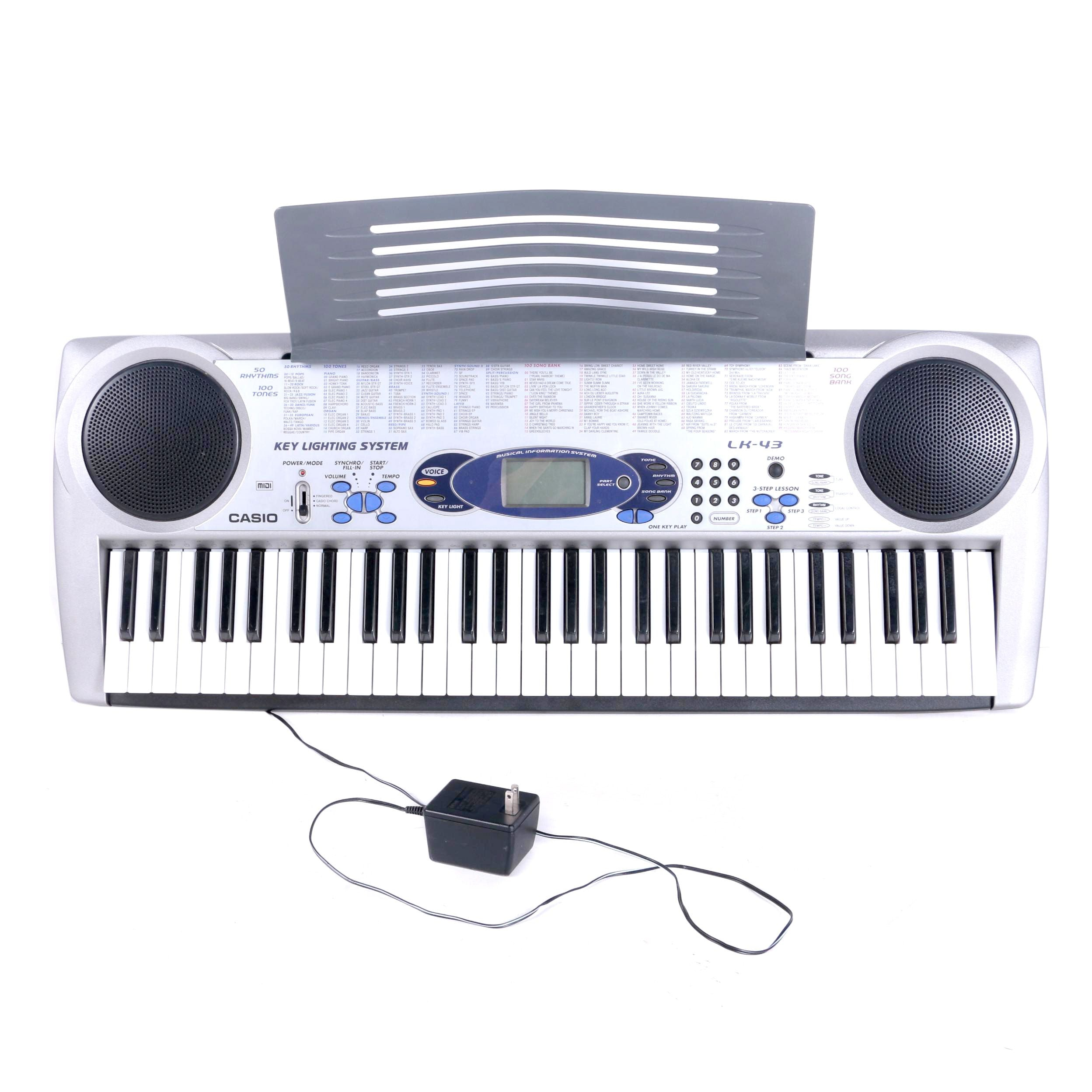 casio lighted electronic keyboard ebth rh ebth com Electronic Keyboard Casio Lk 43 Electronic Keyboard Casio Lk 43