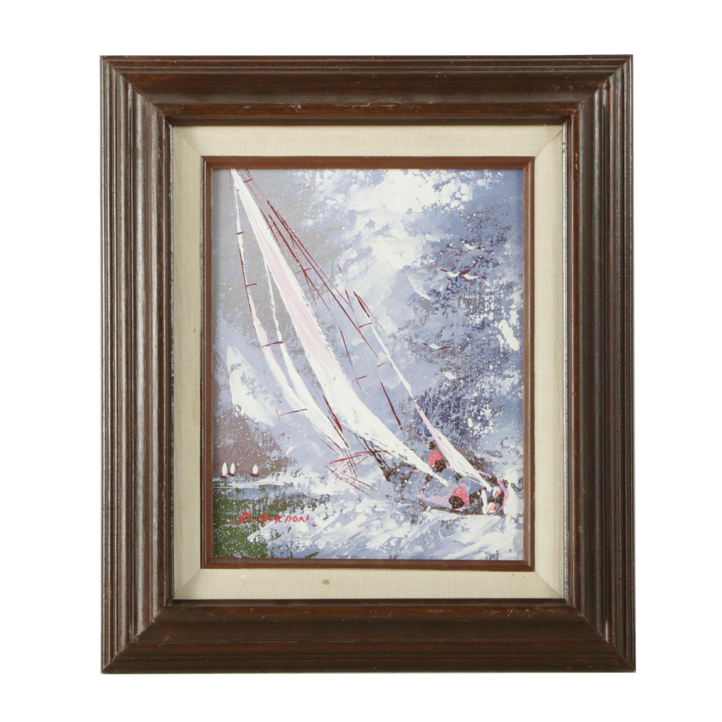 D. Gordon Painting of a Sailboat