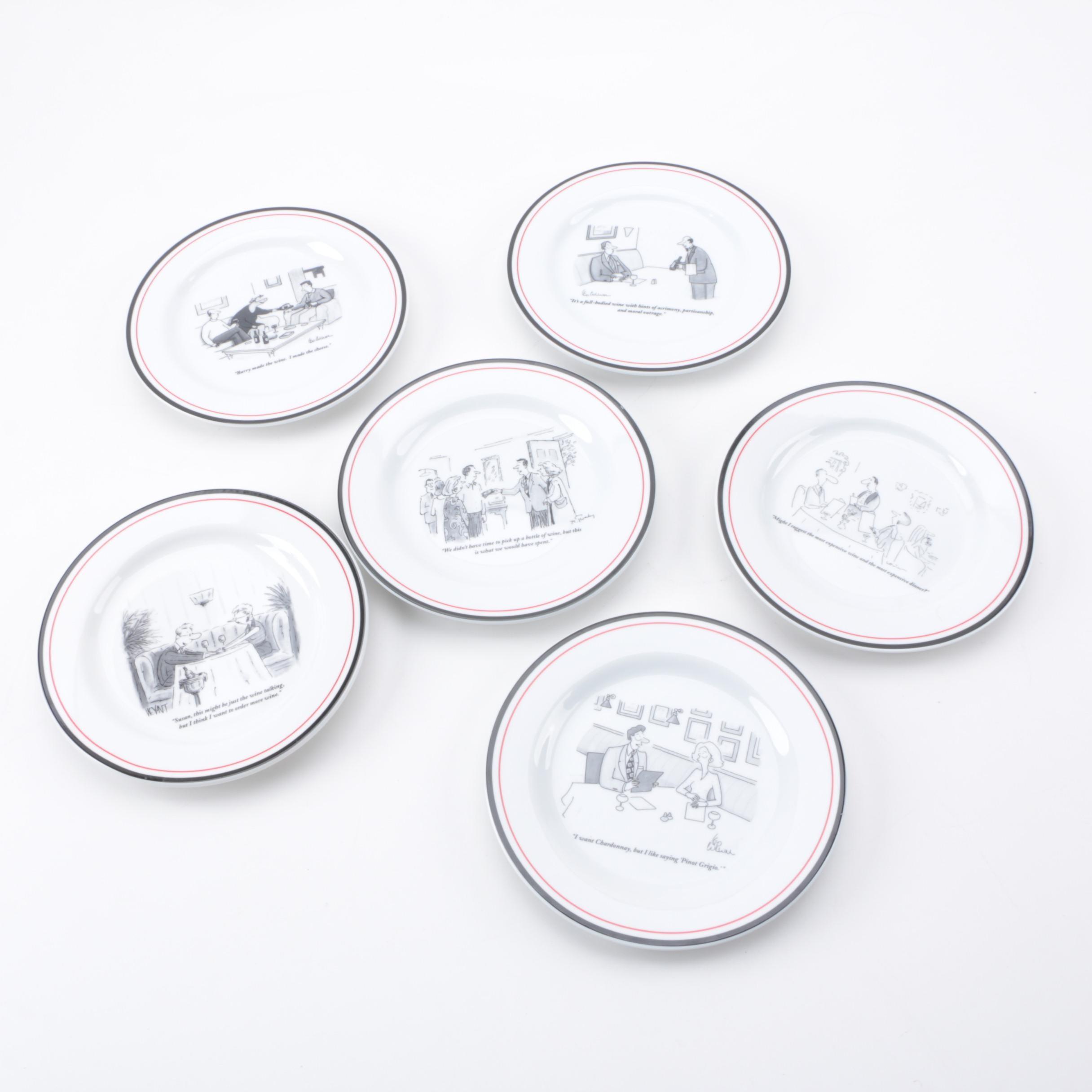 Set of \ New Yorker\  Cartoon Cheese Plates ...  sc 1 st  EBTH.com & Set of \