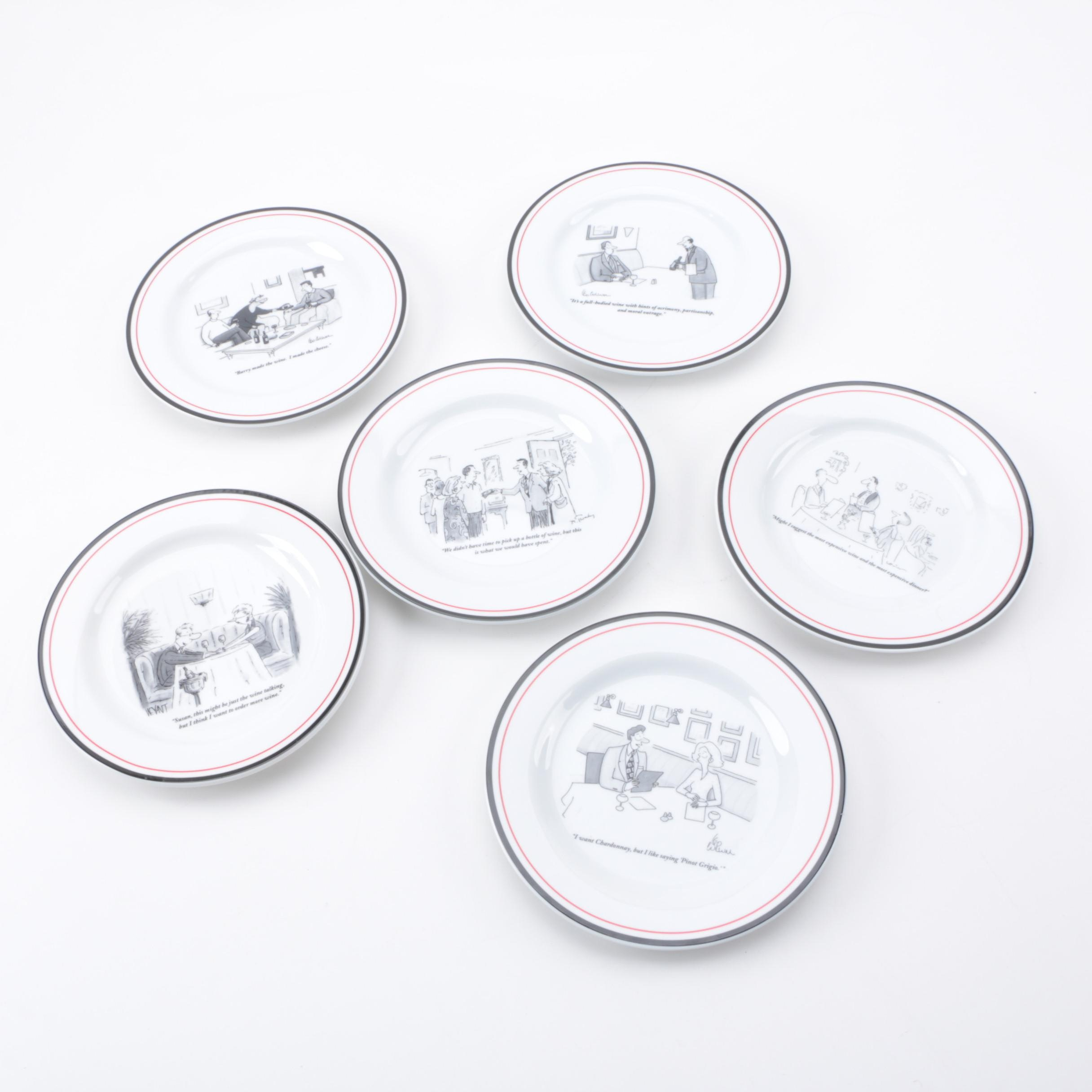 Set of  New Yorker  Cartoon Cheese Plates ...  sc 1 st  EBTH.com : the new yorker cheese plates - Pezcame.Com