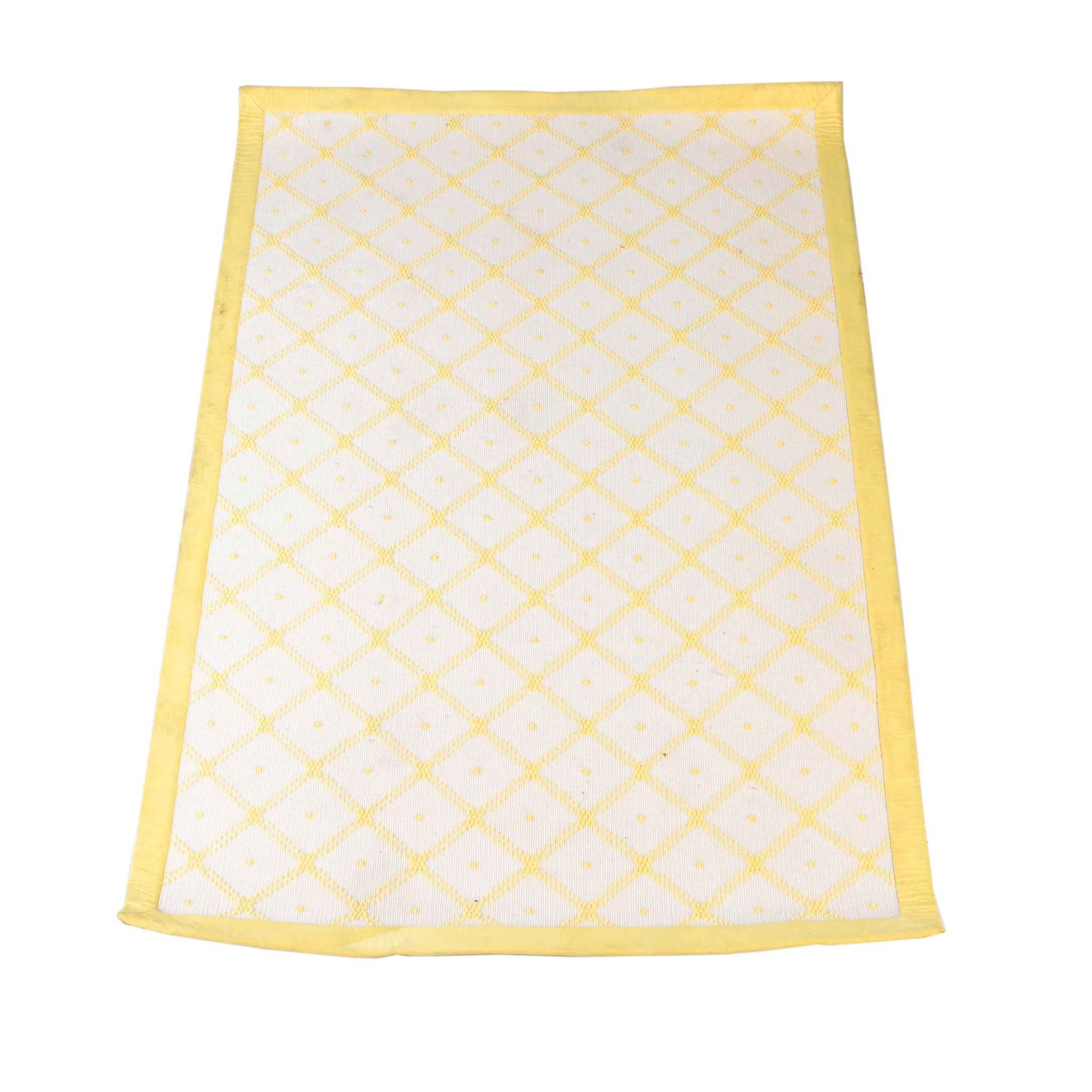 Power Loomed Yellow and White Area Rug by Stark