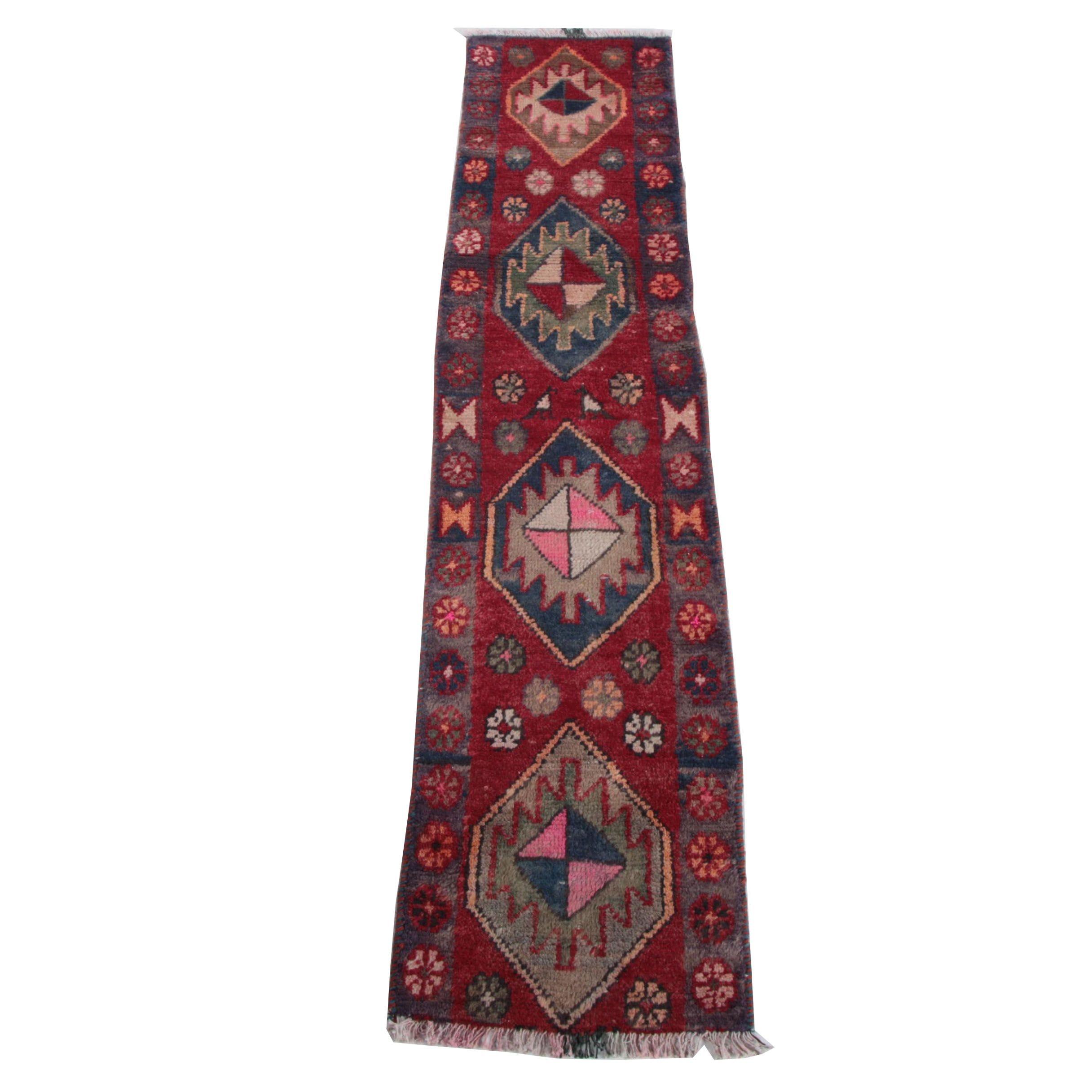Handwoven Indo-Caucasian Carpet Runner