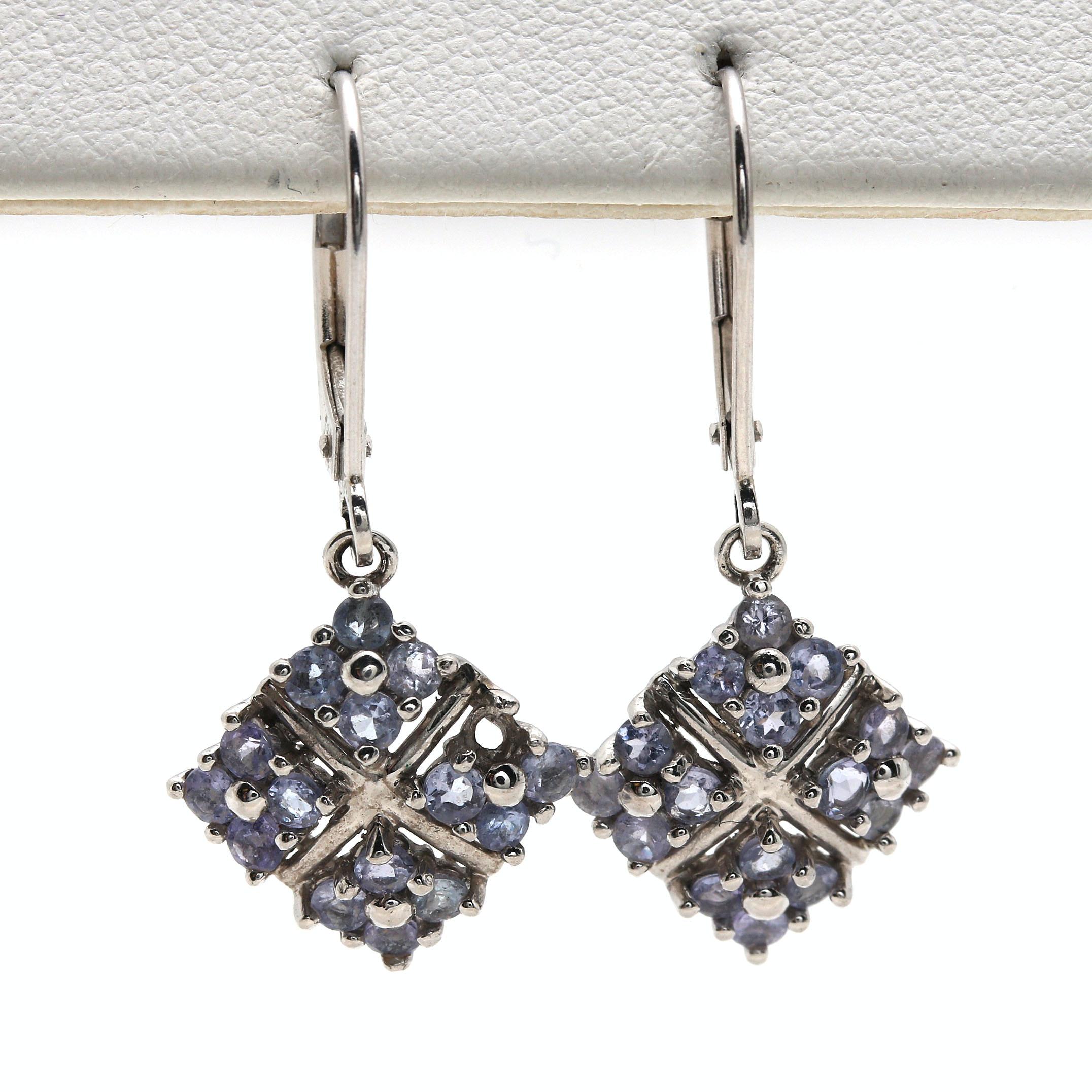 14K White Gold Tanzanite Earrings