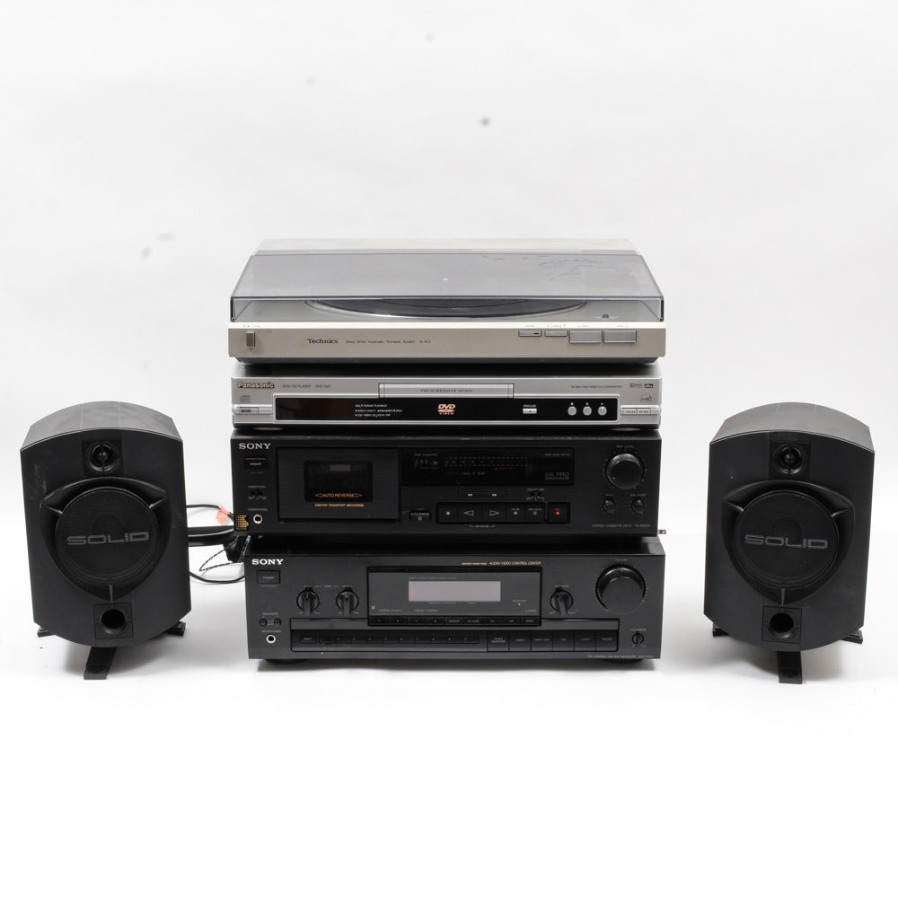 Sony and Panasonic Stereo System
