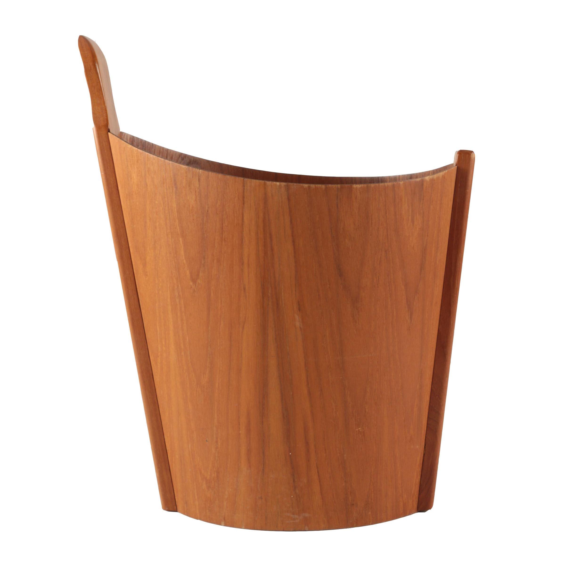 Danish Mid Century Wooden Waste Bin