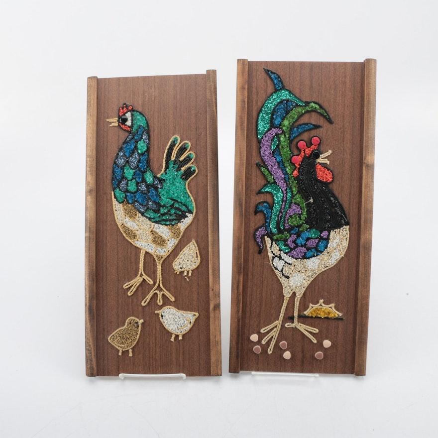 Mixed Media Chicken Wall Art : EBTH