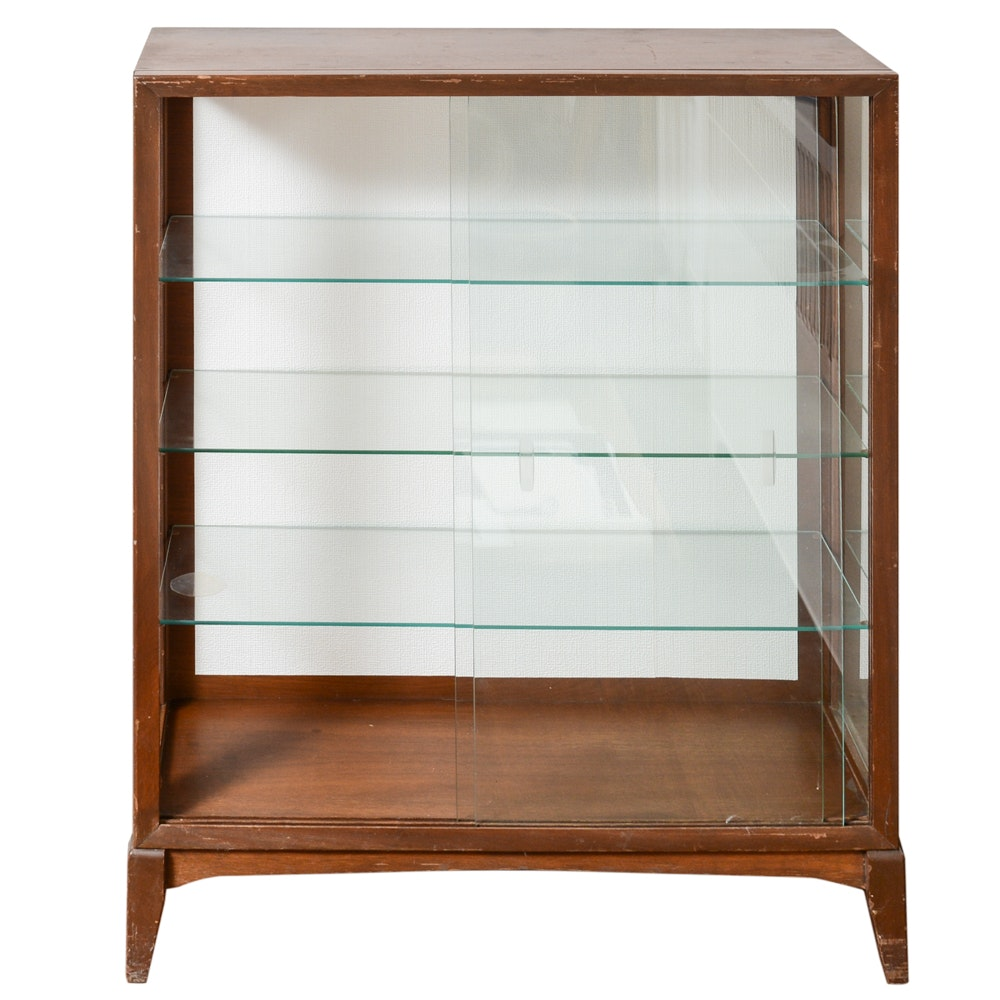Wooden and Glass Display Cabinet