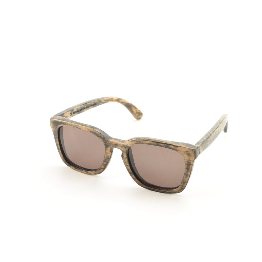 waiting for the sun wood framed sunglasses - Wood Framed Sunglasses