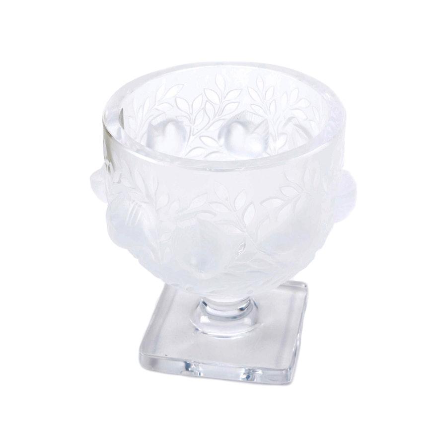 Lalique Elizabeth Crystal Vase Ebth