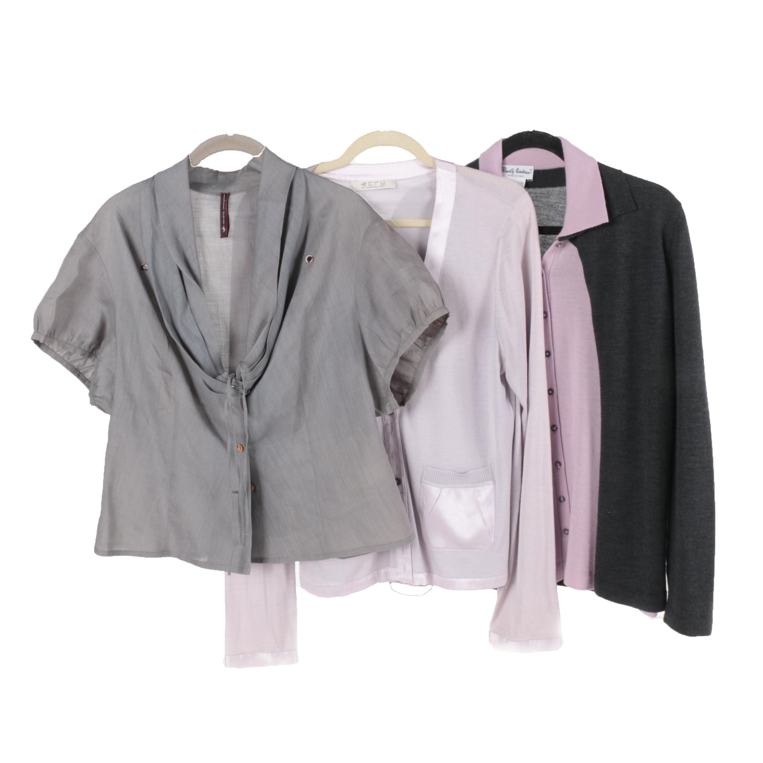 Wool, Linen and Silk Blouses Including Lecoanet Hemant