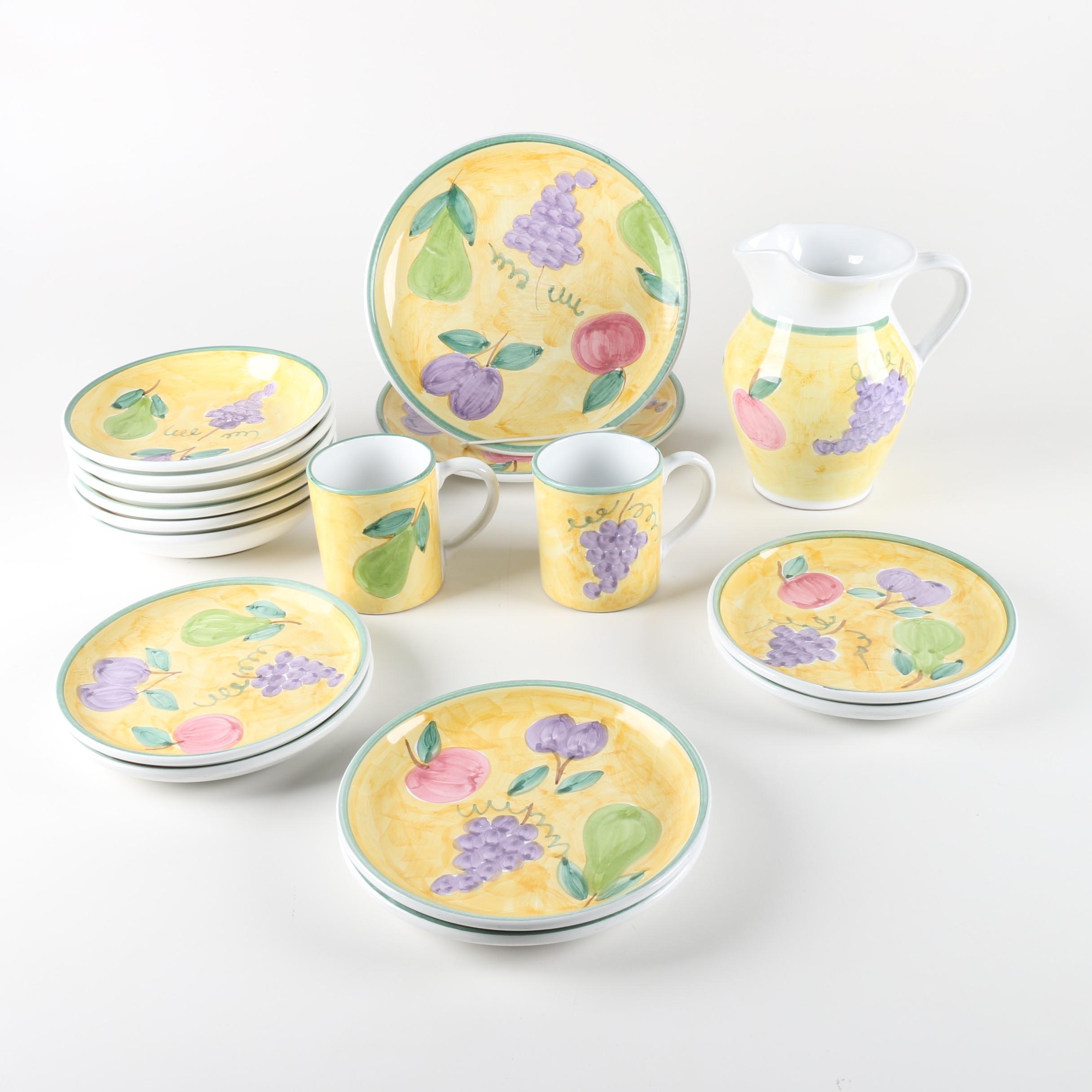 Caleca \ Frutta\  Italian Pottery Dinnerware ...  sc 1 st  EBTH.com & Caleca \
