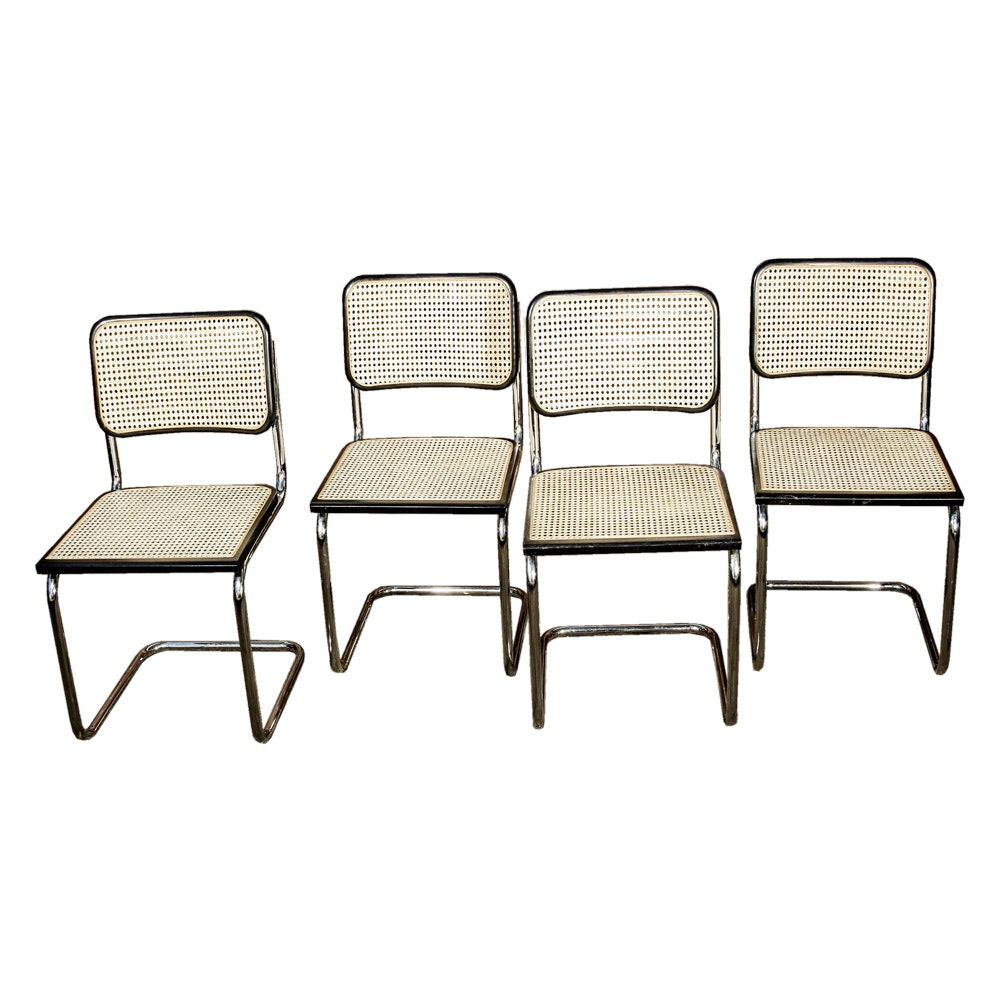 "Set of Four Modern ""Cesca"" Style Dining Chairs"