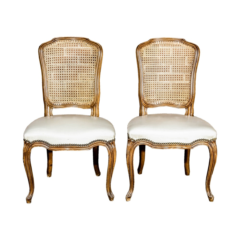 Pair of French Provincial Style Chairs by Michigan Chair Company