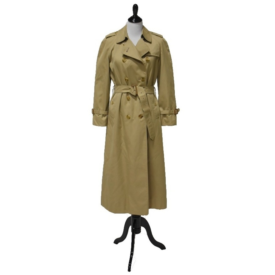 Burberrys Cotton Gaberdine Trench Coat with Removable Wool Lining