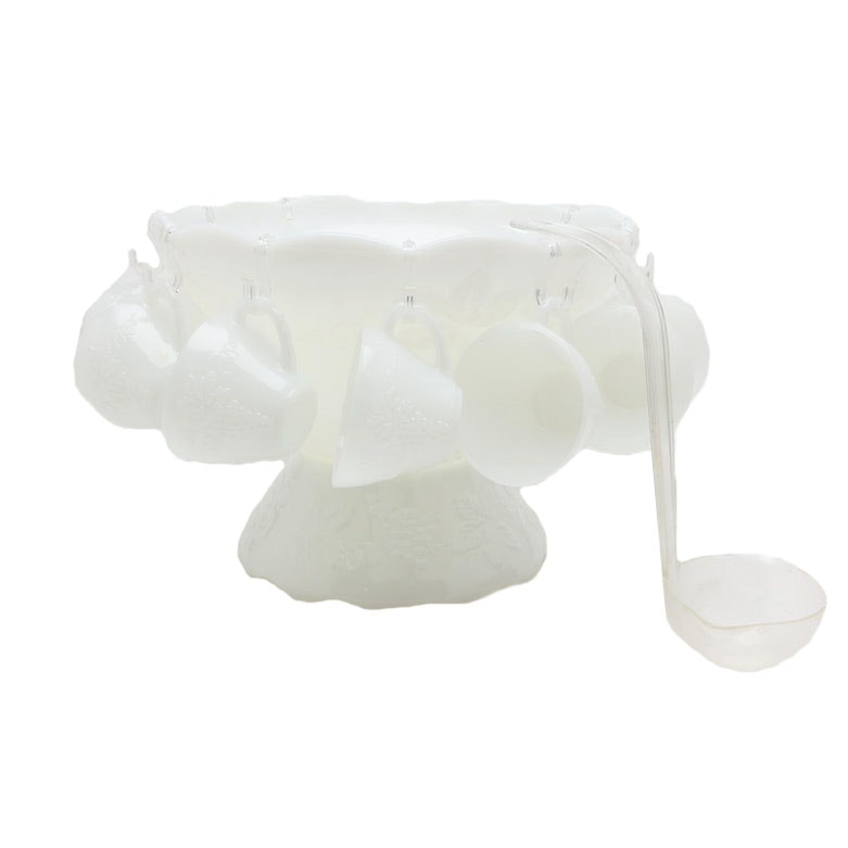 Anchor Hocking Milk Glass Punch Set