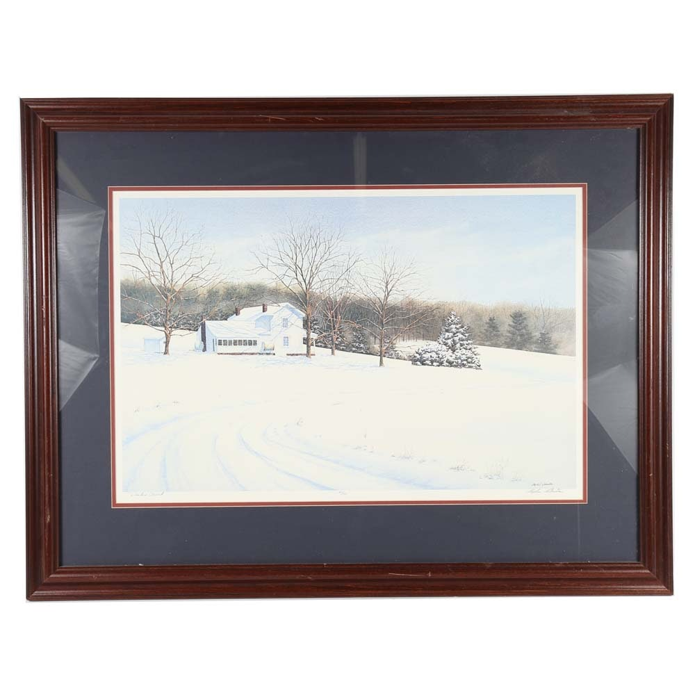 """Stephen Sebastian Limited Edition Offset Lithograph """"Winters Touch"""""""