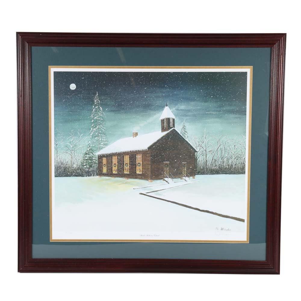 "Wayne Schaefer Limited Edition Offset Lithograph  ""Shiloh Methodist Church"""
