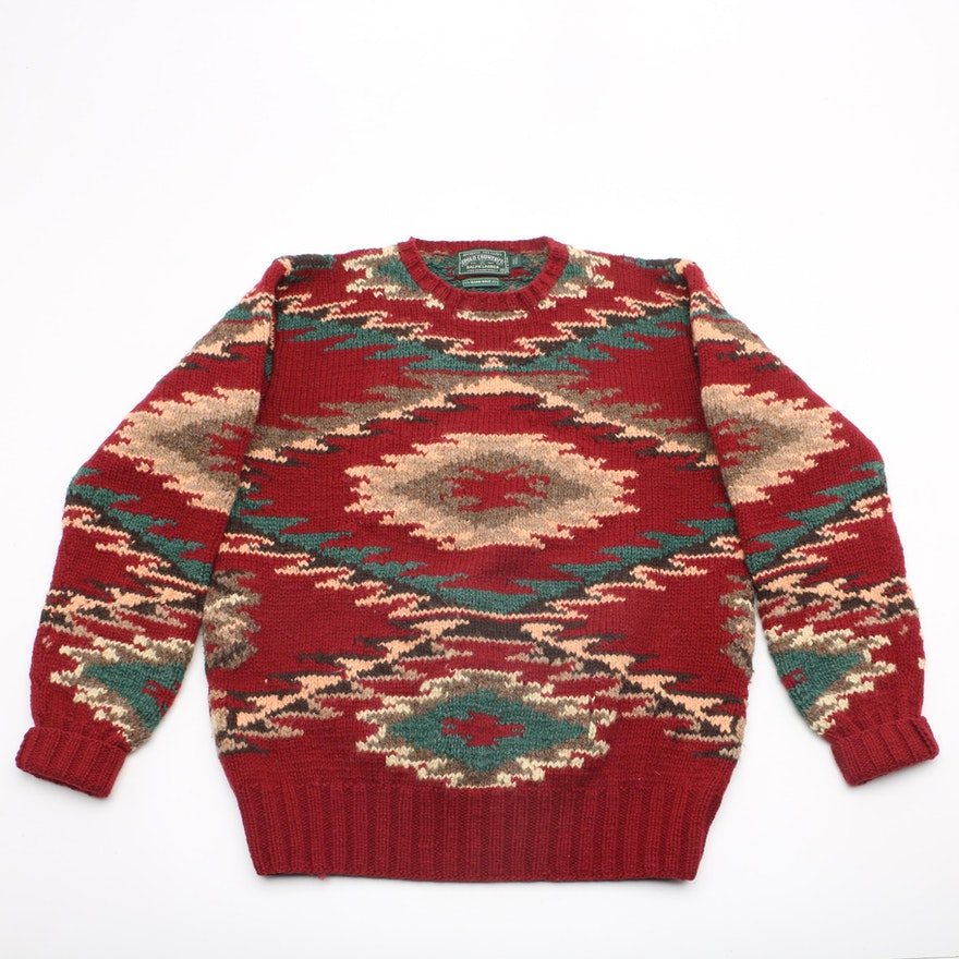 20ceebc94 Vintage Ralph Lauren Polo Country Hand-Knit Wool Sweater