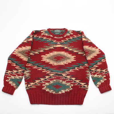 Vintage Ralph Lauren Polo Country Hand-Knit Wool Sweater