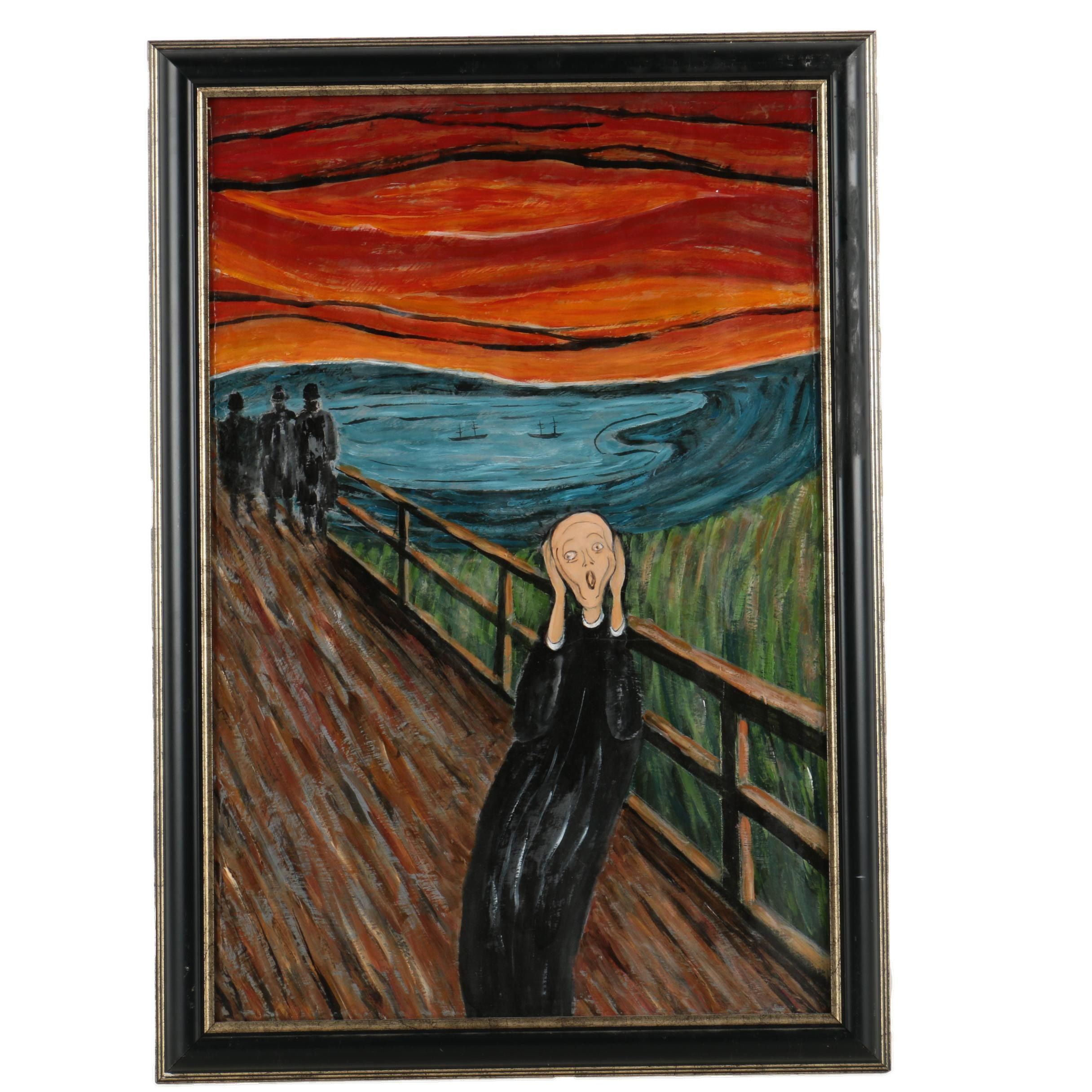"""Copy Oil Painting After Edvard Munch's """"The Scream"""""""