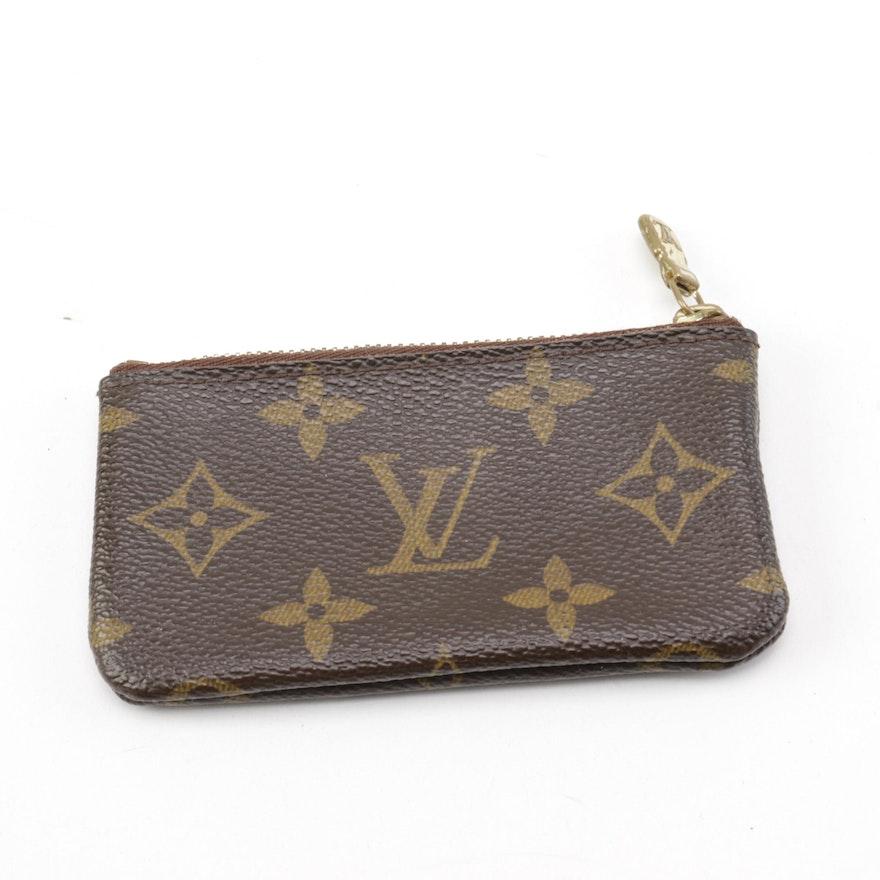 2cb4189d69a9 Louis Vuitton Monogram Canvas Key Pouch   EBTH
