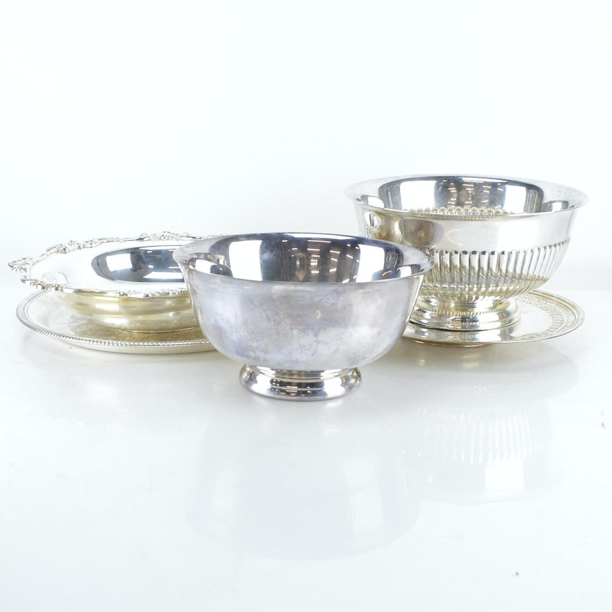 Reed Barton Classic Rose Design Bowl With Additional Silver