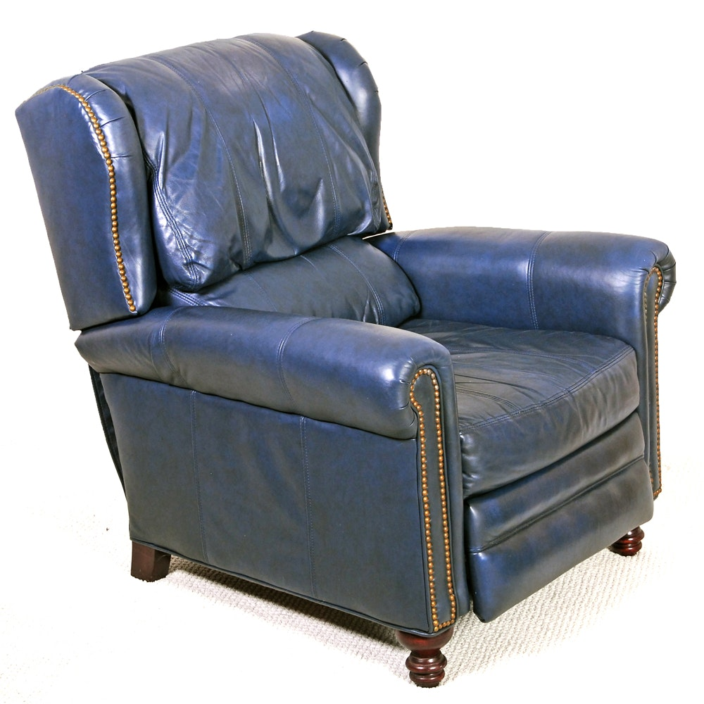 Blue Leather Recliner By Bradington Young  sc 1 st  Everything But The House & Divani Chateau Du0027ax Italian Leather Recliner : EBTH islam-shia.org