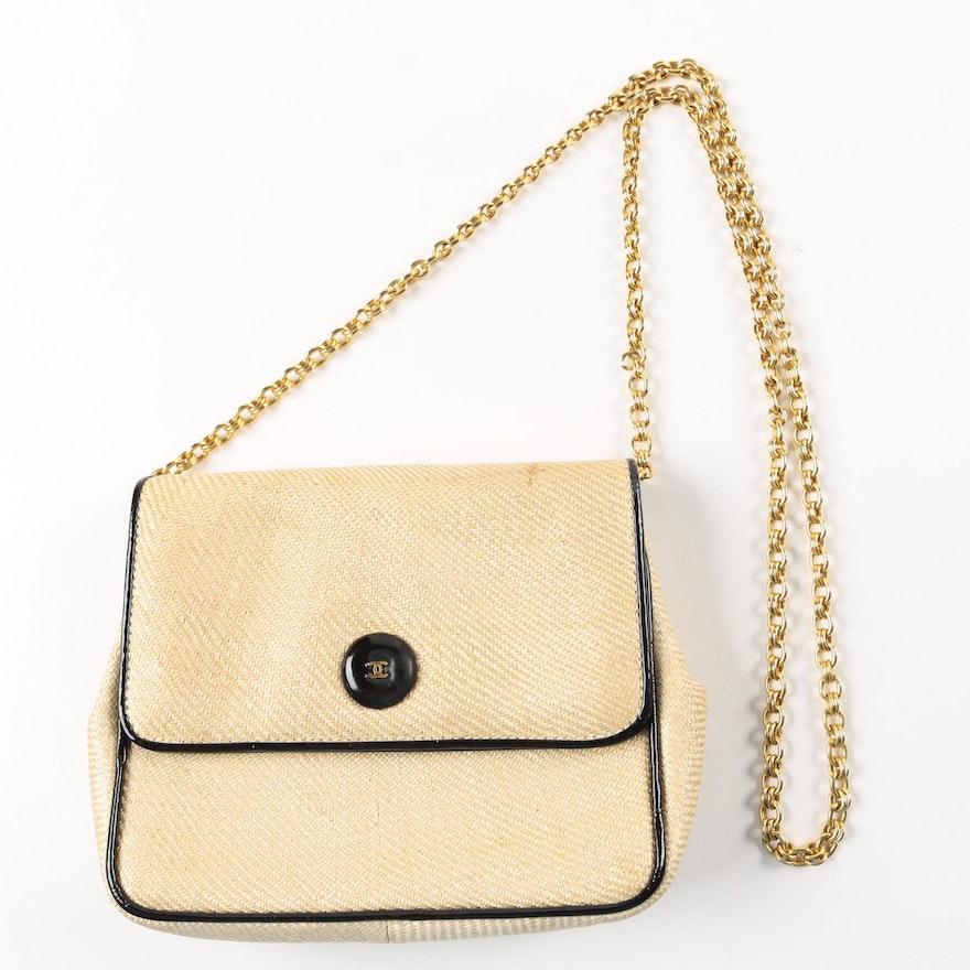 bb1b034fe1b9 Chanel Raffia Shoulder Bag | EBTH