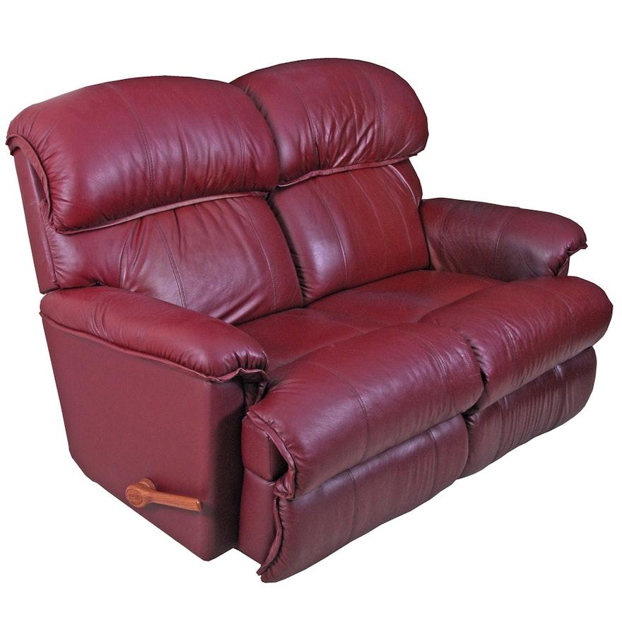 Fabulous Burgundy Leather Reclining Loveseat By La Z Boy Inzonedesignstudio Interior Chair Design Inzonedesignstudiocom