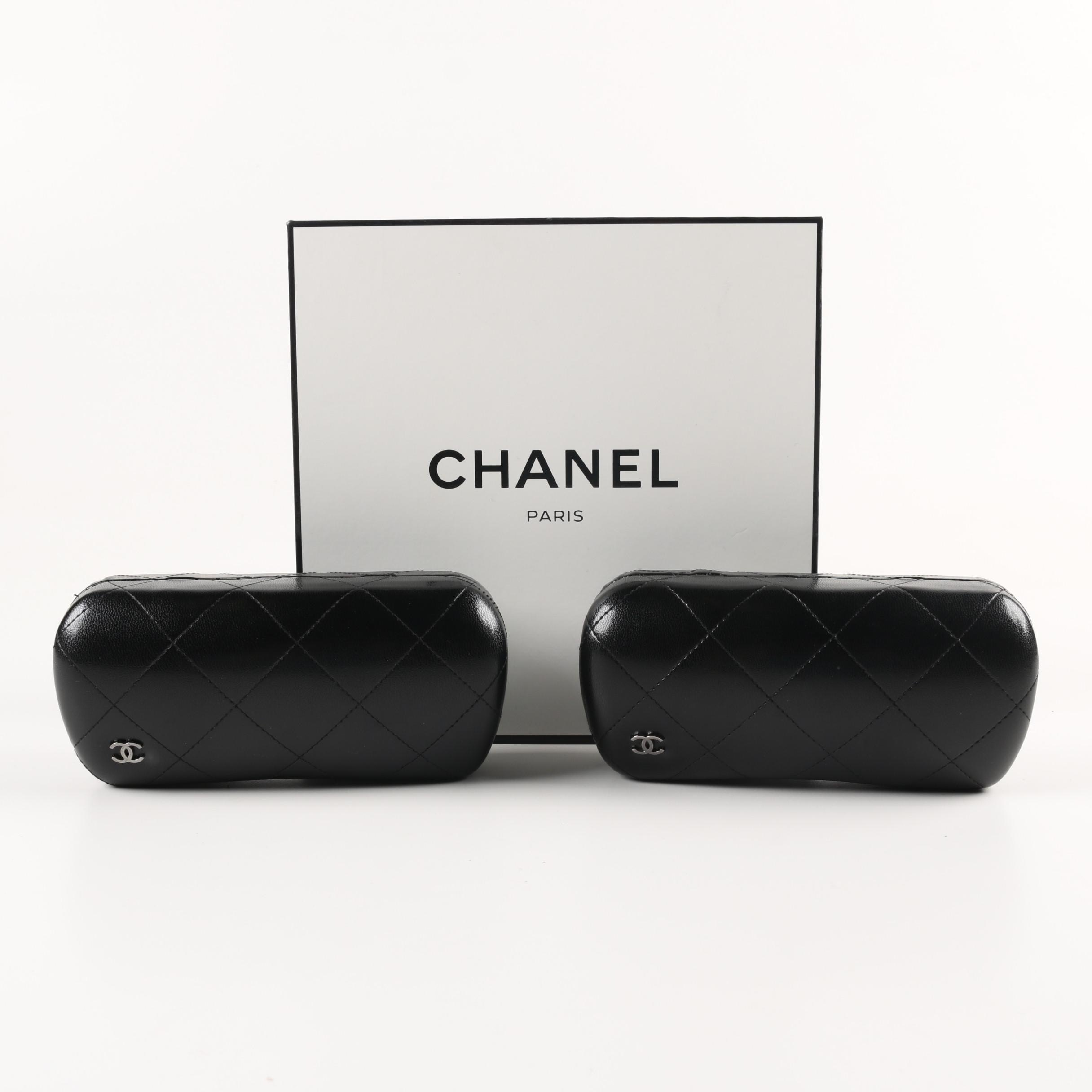 Chanel Sunglass Cases with Boxes