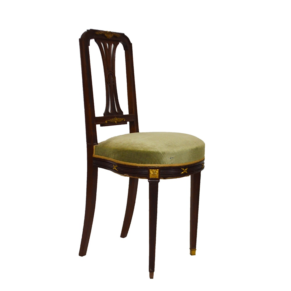 Antique Directoire Style Side Chair