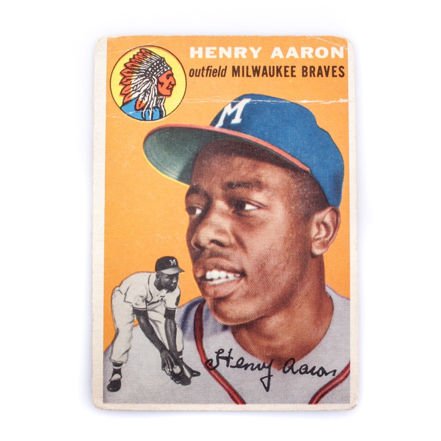 Hank Aaron 1954 Topps Rookie Card