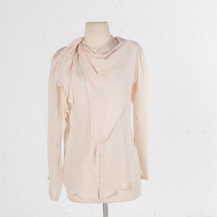 7ff752a1be111 Women s Vintage Giorgio Armani Silk Blouse   EBTH
