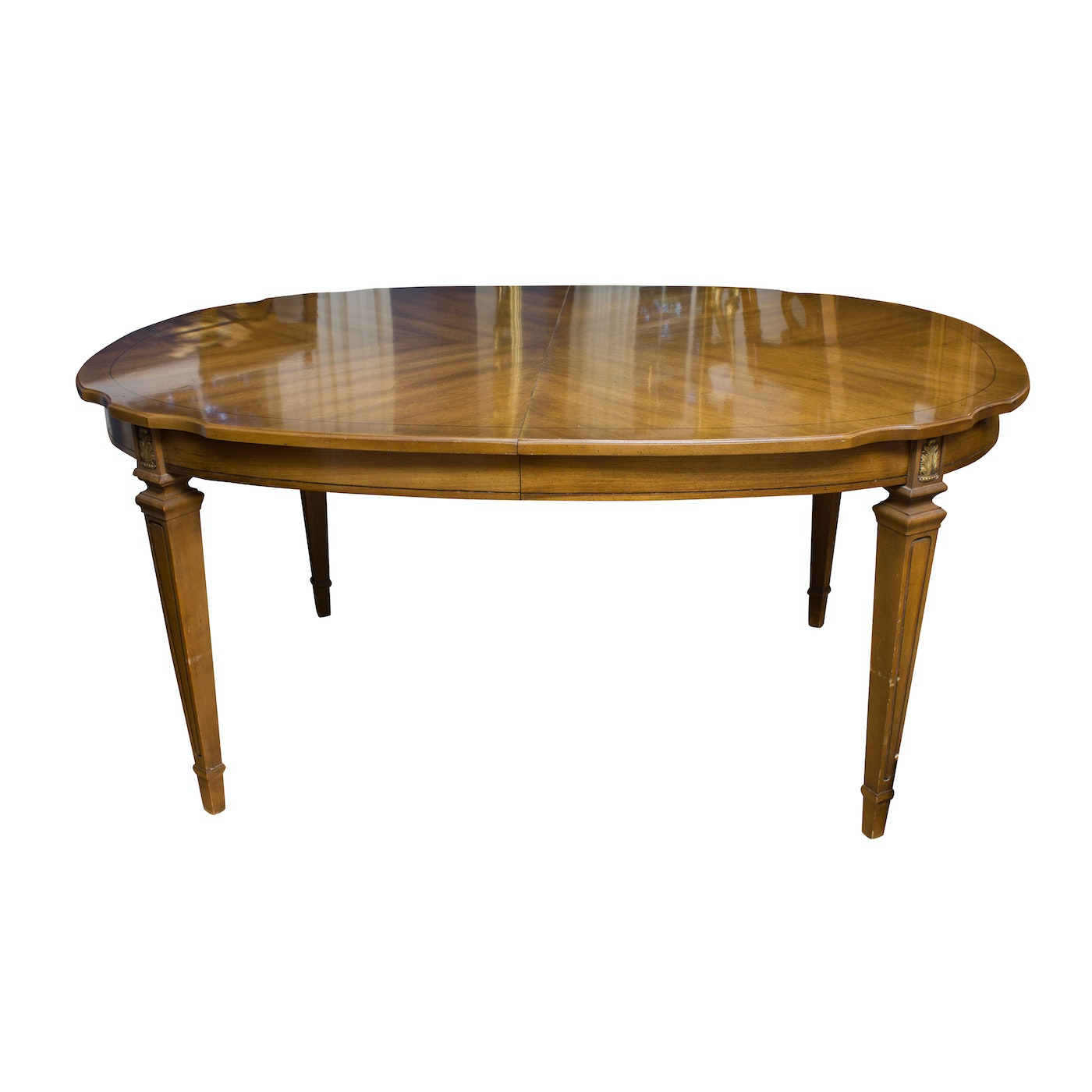 Walnut federal style dining table ebth for Styling a dining table