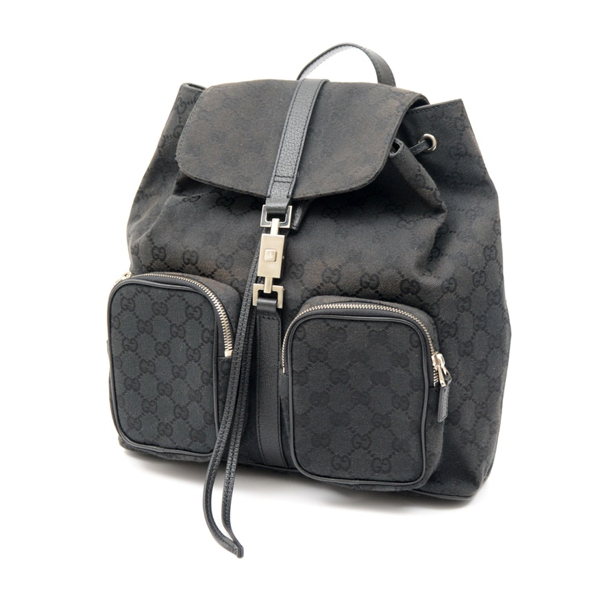 551653b40b6 Gucci Signature Canvas Jackie Backpack   EBTH