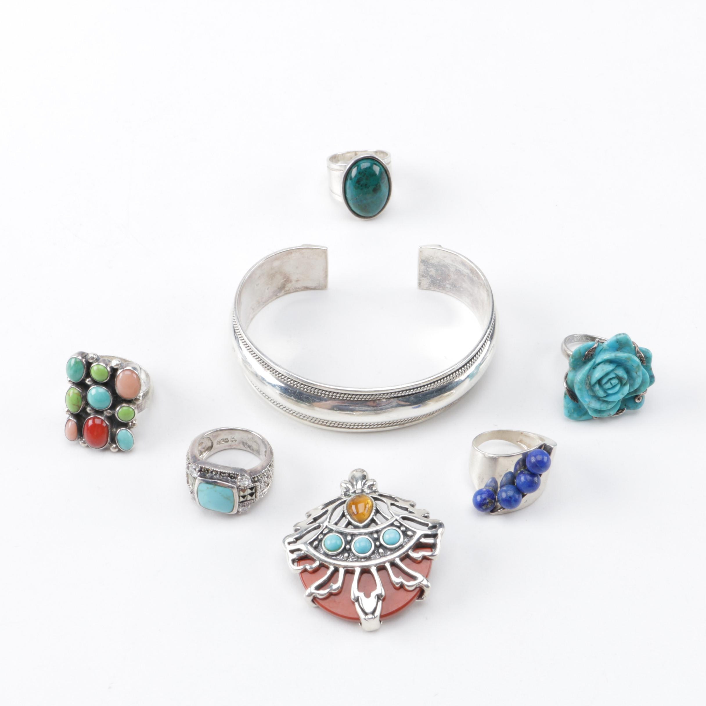Sterling Silver Gemstone Jewelry Assortment Featuring Carolyn Pollack