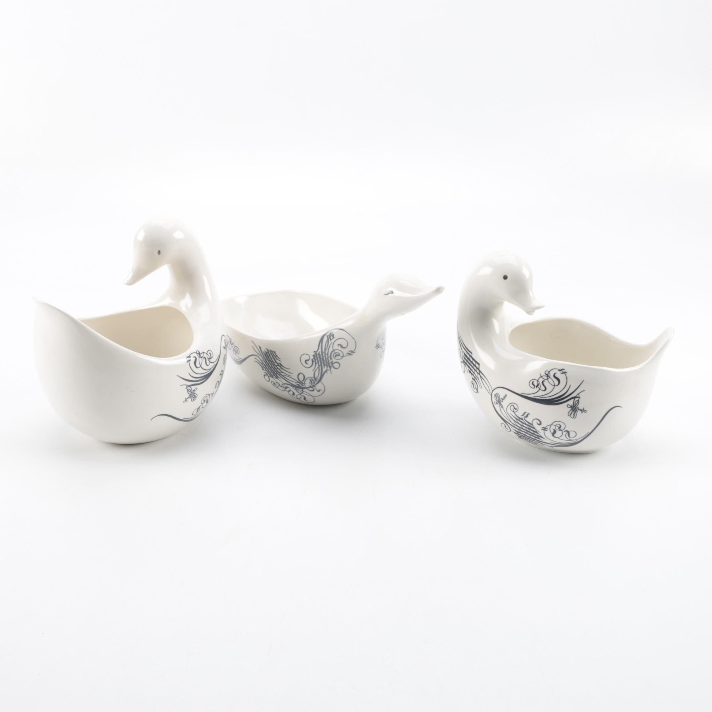 Eva Zeisel Ironstone Bird Shaped Dishes ...