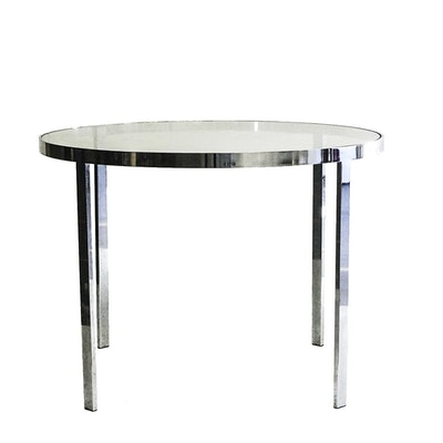 Modern Style Chrome and Glass Table